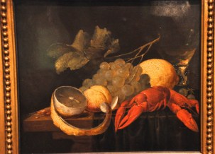 Jacob van Es: Still Life with Fruit and Crayfish, about 1645