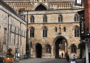 The Exchequer Gate, main entrance to the Cathedral