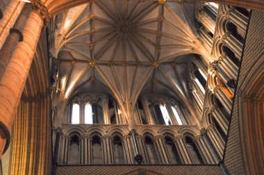Lincoln Cathedral central tower from the crossing