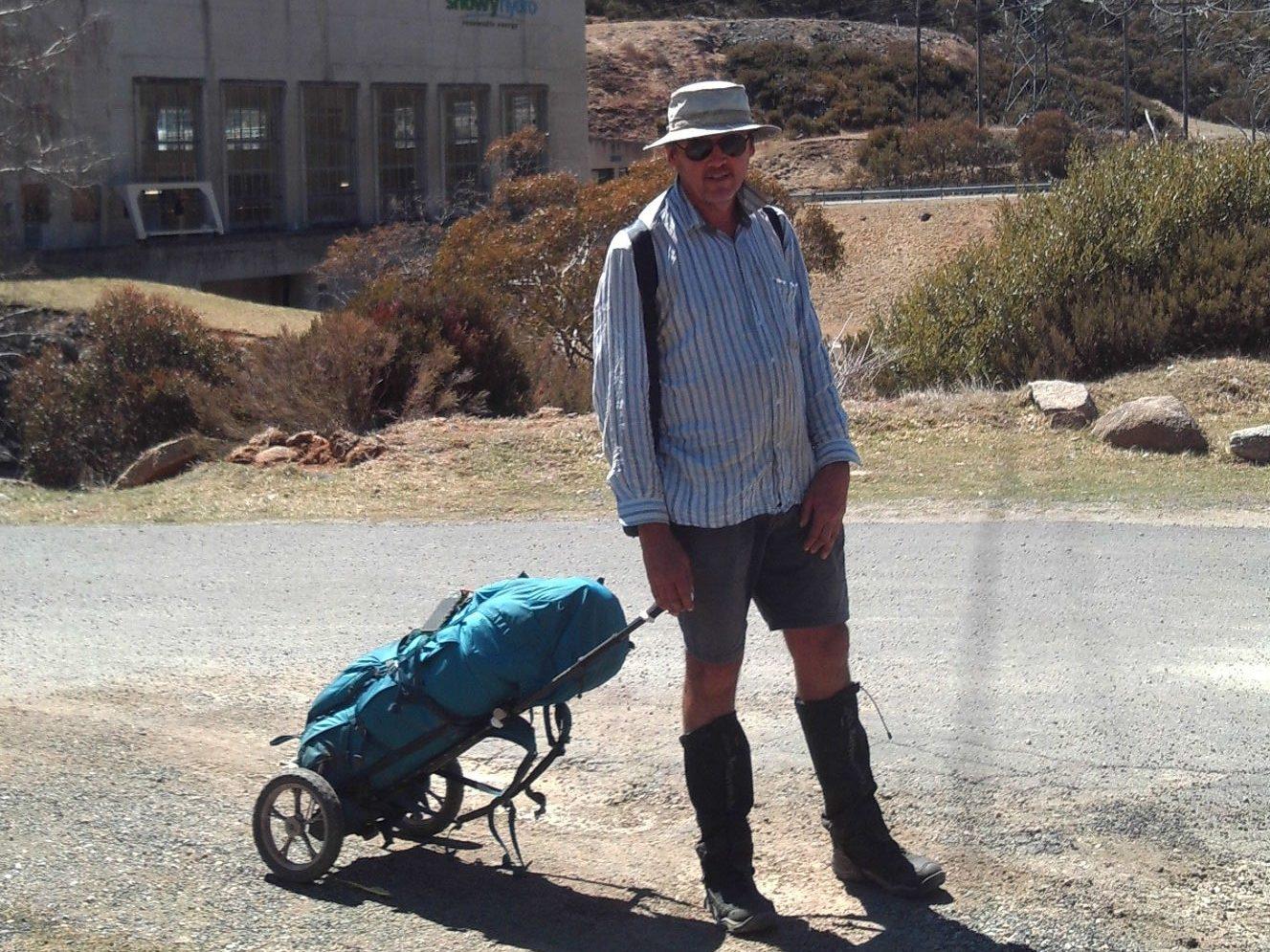 Hiking trailer, backpacker trailer, hikers trailer
