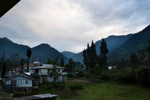 Yuksam with mount Khangchendzonga in background
