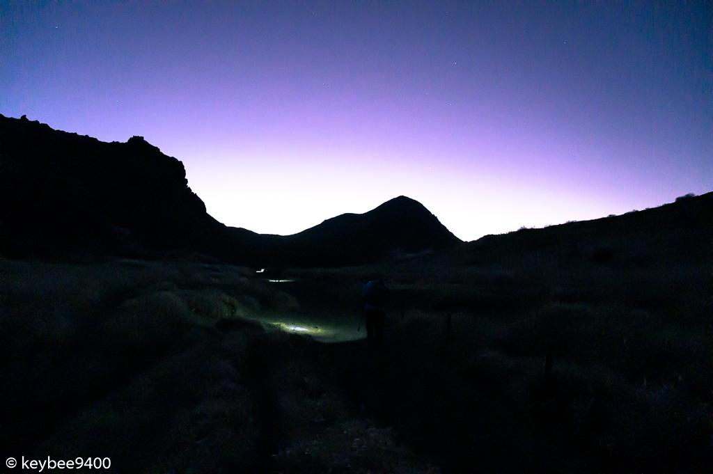 登山道から見える久住山