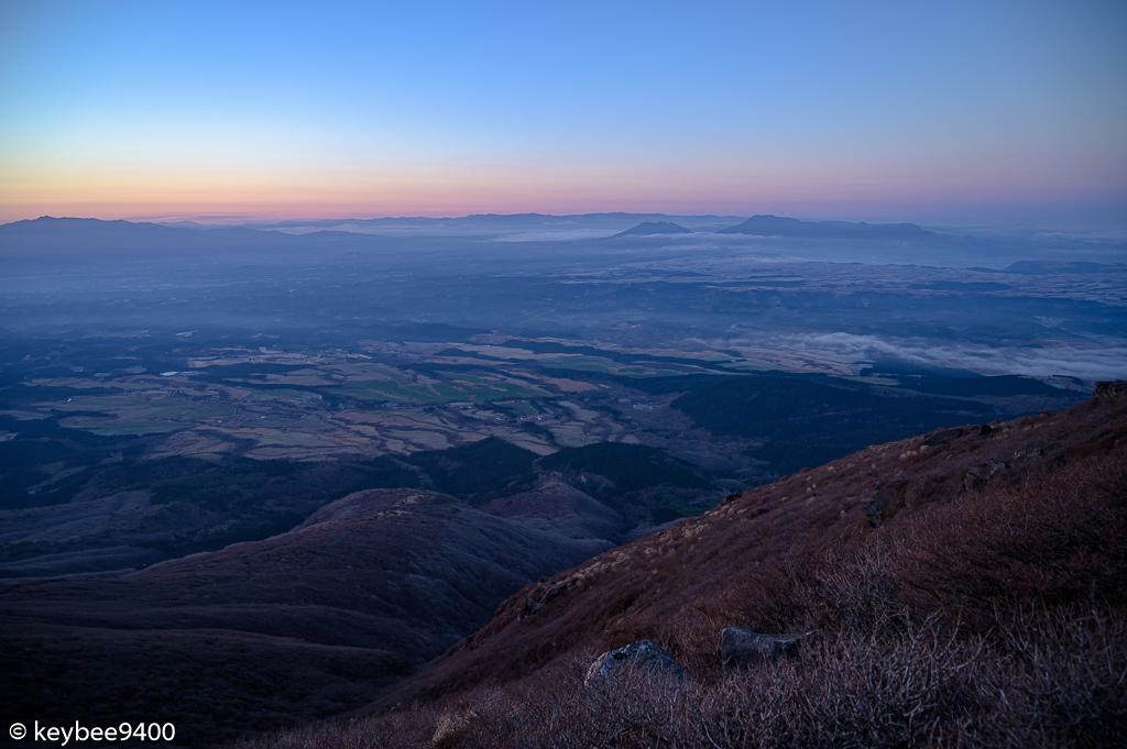 久住高原と阿蘇山