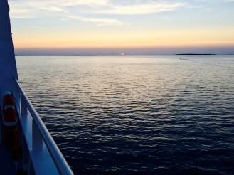 Sun setting to Saaremaa