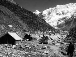 acampar en el campamento-base del island peak