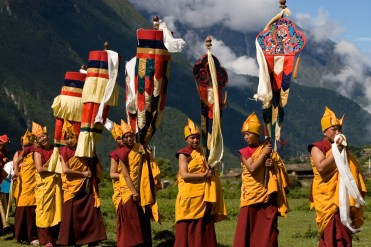 Habitantes Budistas del valle de Tsum
