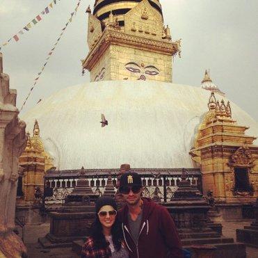 Sunny leone con su marido Daniel Weber