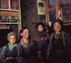 Sherpa familia en Solukhumbu