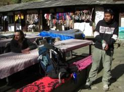 Sudip Aryal en Campamento base del Annapurna