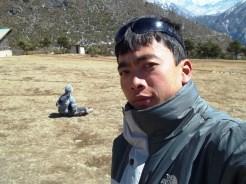 Kim posando en Langtang