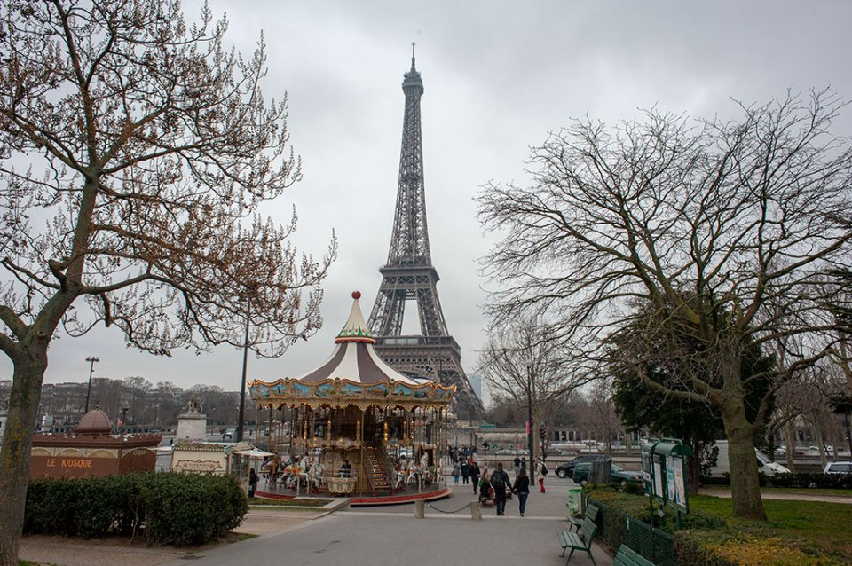 The Eiffel Tower and Merry Go Round