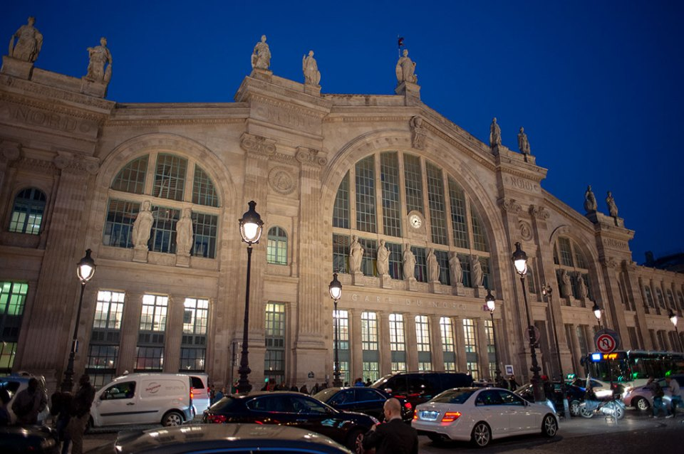 Le Gare du Nord at night