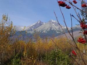 Paysage d'automne dans les Haute Tatras.