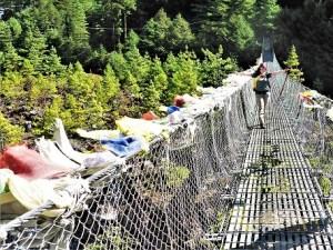 Wackelige Angelegenheit: Die Hängebrücken auf dem Weg nach Namche