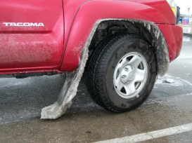 Slush on the mud flaps.