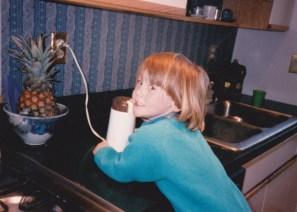 Hannah starting her coffee career.