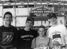 My family at Wrigley field for playoff game.