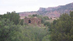 These stone cabins were built by the WPA/CCC during the Depression