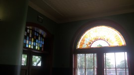 Stain glass windows were nicer than the picture shows