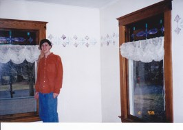 This shirt as you can see makes up a new product. This picture is Eli in our livingroom in Jamesville, NY 2005 as we were moving out.