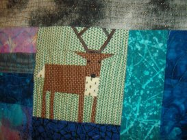 I hope I can find pictures of another quilt I made with this deer enlarged. What for it in another post.