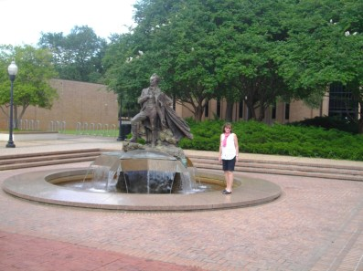 Fountain on SFA campus.