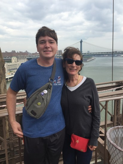 A picture of Keith and I on the Brooklyn Bridge the Saturday we were in NYC. Micah's friend Danielle, met us in Lower Manhattan and walked across the bridge with us. Danielle is in the header for the first post.