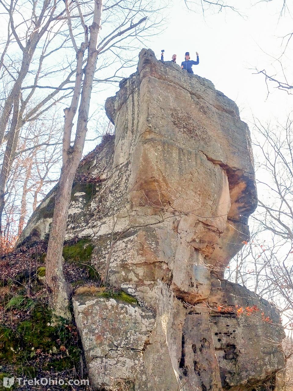 Zaleski State Forest Lookout Rock  TrekOhio