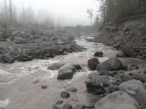 Sandy River in the morning at the crossing area.