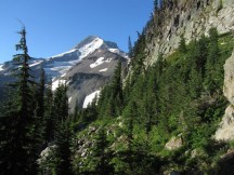 View of Mt. Hood from the trail entering into Elk Cove.