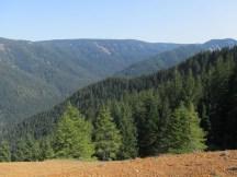 Looking over to Nick Eaton Ridge with Herman Creek far below.