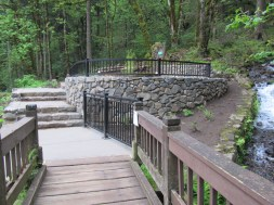 Construction on this new wheel chair accessible viewing area much have been what closed the trailhead for a while.