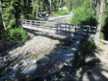 There is a nice bridge over Clark Creek and this is where we enter wilderness.