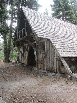 A Frame cabin at Tilley Jane.