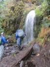 Near the bottom we start running into water falls.