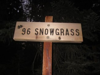 We take trail #96 Snowgrass to the PCT.