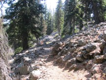 Trail to Boulder Lake.