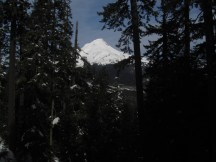This route has lots of great views of Mt Hood as it climbs.