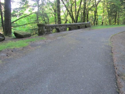 Trail starts from the old Columbia highway bridge over Ruckle Creek.