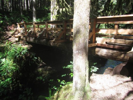 Bridge over Siouxon Creek to Chinook Trail