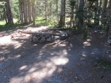 Fire Ring at Butte Camp