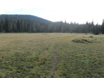 Looking back over the Cascade Crest trail that was crossed Big Meadow on. From here it was time to head back.