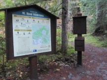 The wilderness permit sign is about a 1/4 form the wilderness boundary.