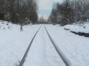 Heading down the tracks.