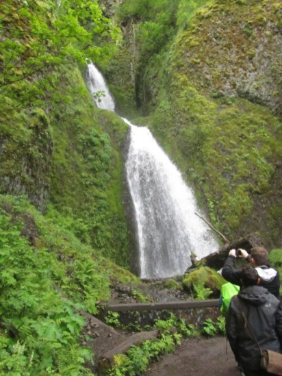 Wahkeena Falls and almost back to the car.