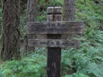 The trail sign at the start of the Wyeth Trail.