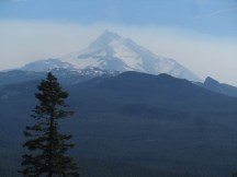 Jefferson with some smoke on it. All of that area had been closed off by the forest service.