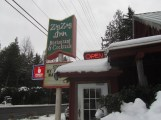 We stopped for Pizza and Beer after our snowshoe.