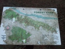 The maps along the trail were just put up a couple of years ago and already they are wearing out.