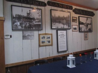 The store walls were cover with historic photos.
